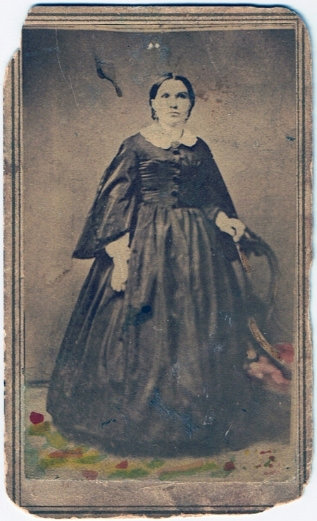 Large Woman in Silk Dress, c. 1860-62