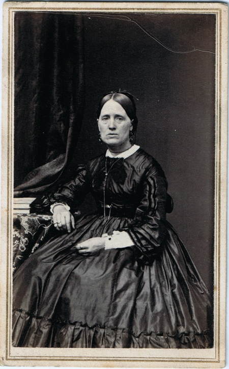 Woman in Silk with Watch, c. 1860